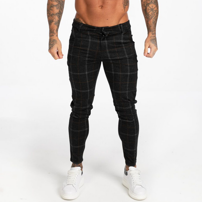 LUXE CHECK TROUSERS BLACK/GOLD