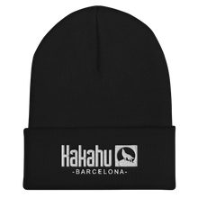 Load image into Gallery viewer, KAKAHU BLACK BEANIE EMBROIDERED LOGO