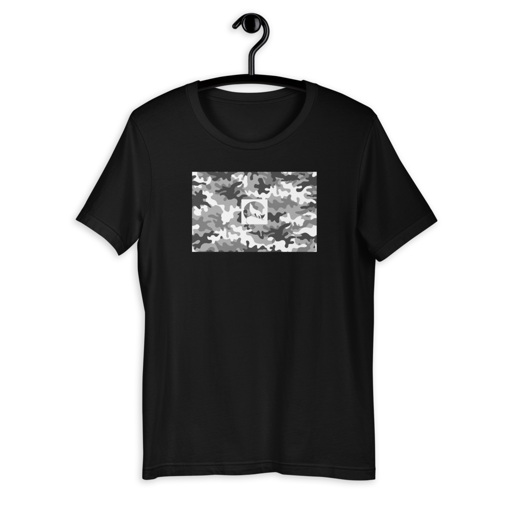 CAMOUFLAGE SLIM-FIT TEE BLACK