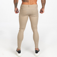 Load image into Gallery viewer, PINSTRIPE TROUSERS BEIGE