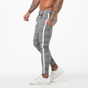 PLAID TROUSERS LIGHT GREY/WHITE