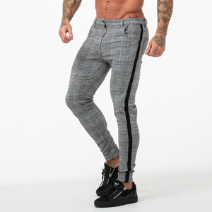 PLAID TROUSERS DARK GREY/BLACK