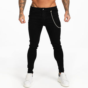 BASIC SKINNY JEANS BLACK + CHAIN