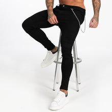 Load image into Gallery viewer, BASIC SKINNY JEANS BLACK + CHAIN