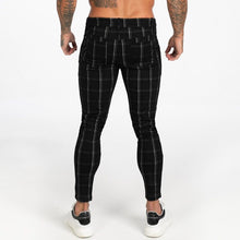 Load image into Gallery viewer, LUXE CHECK TROUSERS BLACK/WHITE