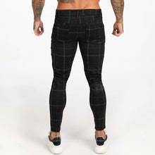Load image into Gallery viewer, LUXE CHECK TROUSERS BLACK/GOLD