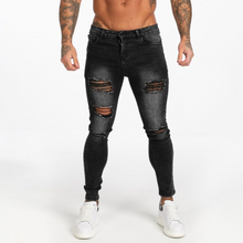 Load image into Gallery viewer, RIPPED SKINNY JEANS DARK GREY