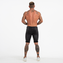 Load image into Gallery viewer, RIPPED SKINNY SHORTS DARK GREY