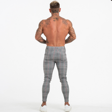 Load image into Gallery viewer, PLAID TROUSERS LIGHT GREY/WHITE