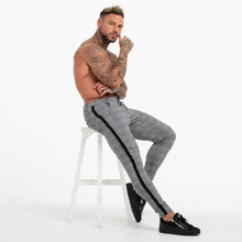 Load image into Gallery viewer, PLAID SKINNY TROUSERS GREY - Kakahu Store