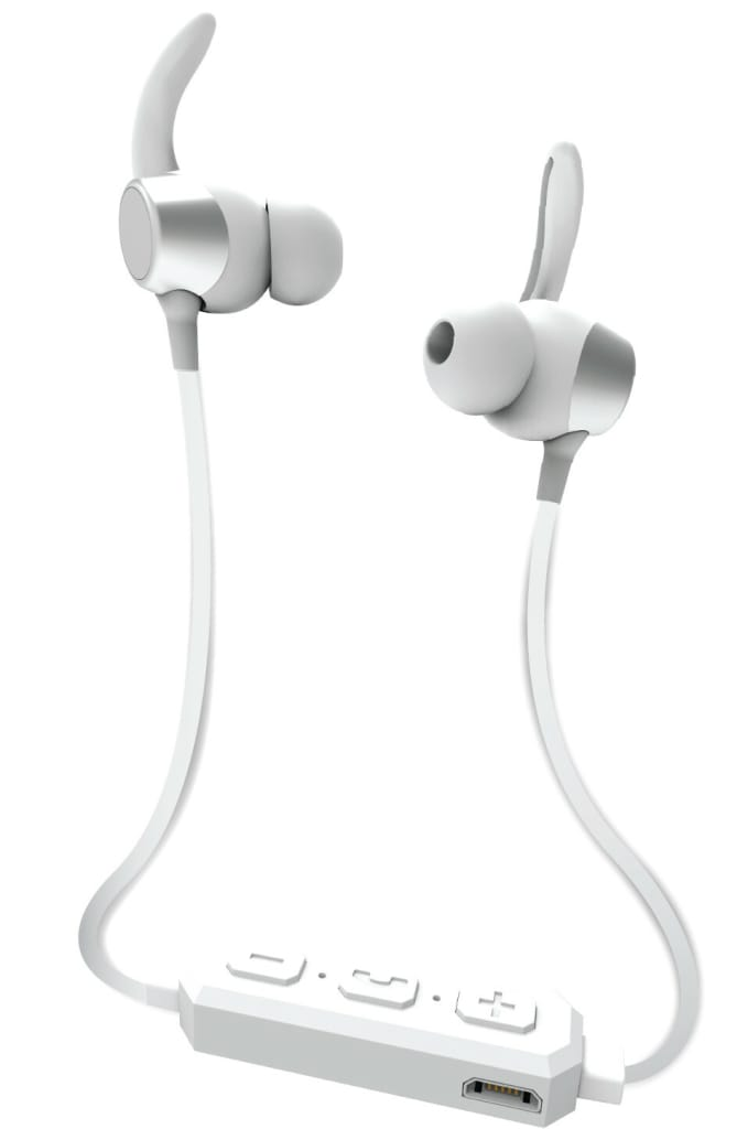 iEssentials Sweet Sounds Bluetooth Headphones with Microphone (Silver)