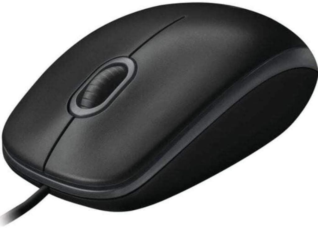 Logitech B100 Corded Mouse Wired USB Mouse for Computers Laptops