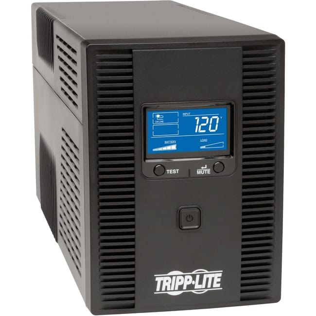 Tripp Lite SMART1300LCDT 1300VA UPS Battery Backup, AVR, LCD Display, 8 Outlets, 120V, 720W, Tel & Coax Protection, USB, 3 Year Warranty &