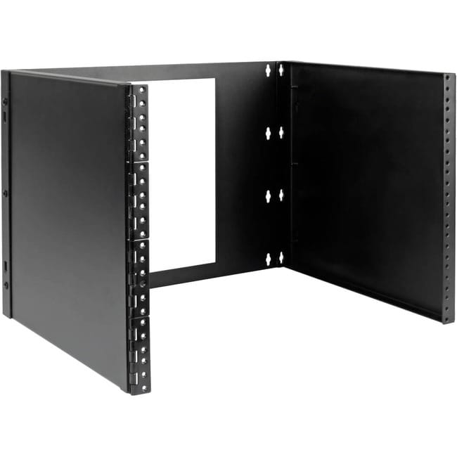 8U Wall-Mount Bracket for Small Switches & Patch Panels Hinged