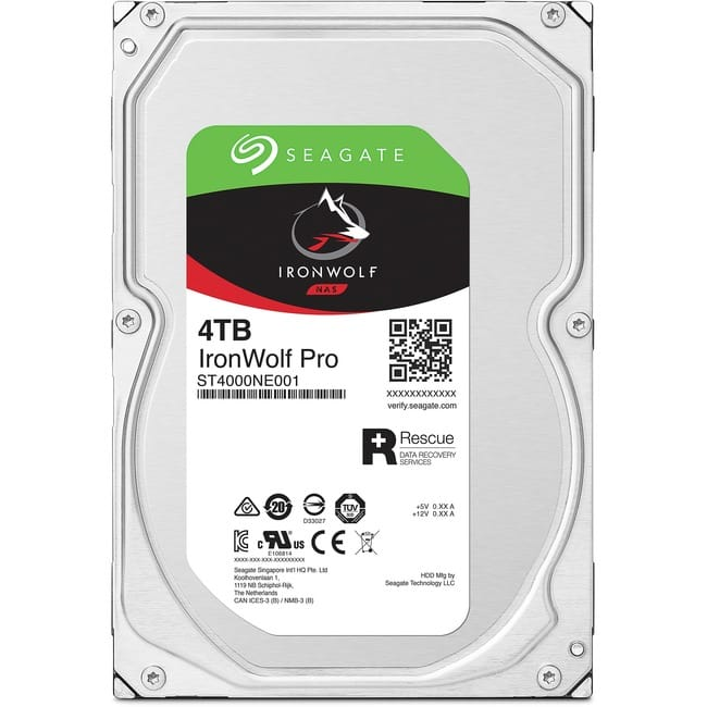 Seagate IronWolf Pro ST4000NE001 4 TB Hard Drive - 3.5 Internal - SATA (SATA/600)