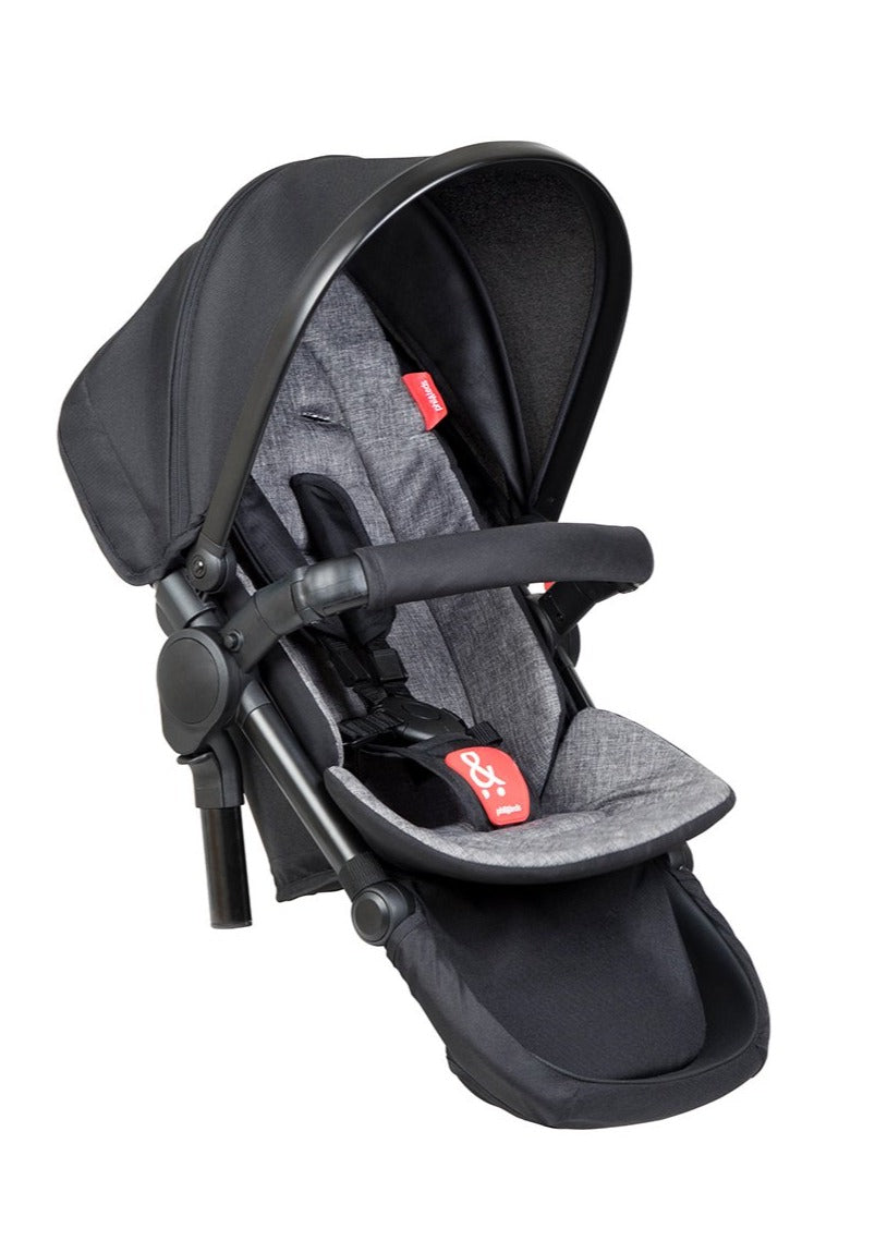 Phil & Teds Dash Double Kit Charcoal Extra Pushchair Seat