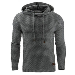 Casual Hoodie Men'S Hot Sale Plaid Jacquard Hoodies Fashion Military Hoody Style Long-Sleeved Men Sweatshirt 4XL