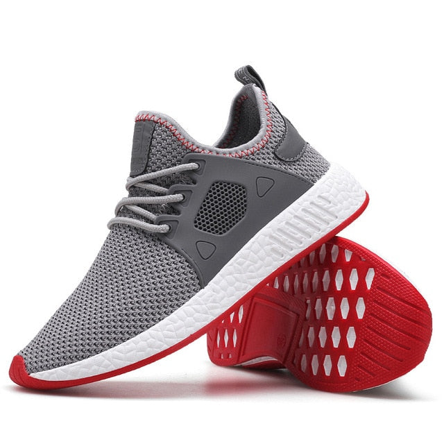 Shoes Casual Weaving Fly Mesh Breathable Light Soft Black Slipon Mens Shoe Male Trainers Sneakers Human Race