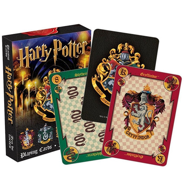 Harri Potter Playing Game Cards Hogwarts House Collection Badges Symbols Castle Crests 2 Patterns English Sets Fun Kid Toy Gift