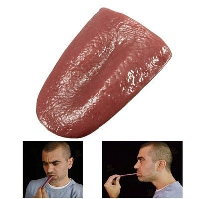 horror funny magic tricks whole person false simulation tongue decompression toy Halloween prank