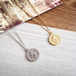 Carved Coin Necklace