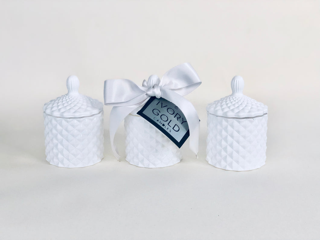 Luxury Trio of Mini Tiffany Candles 100ml