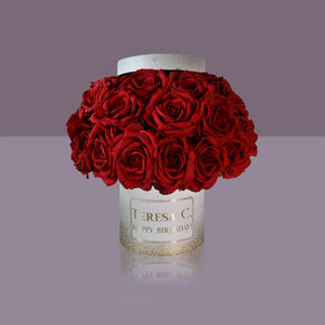 24 Passion Rose Box (White Box)