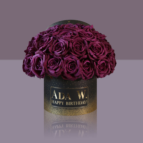 36 Violette Madonna Rose Box (Black Box)