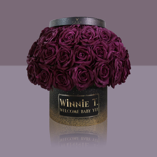 50 Violette Madonna Rose Box (Black Box)