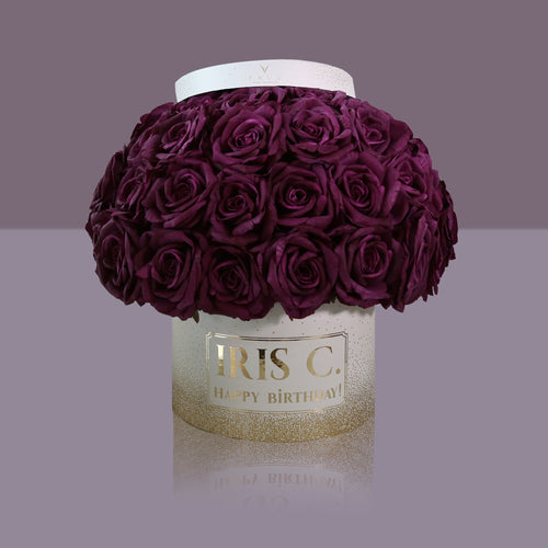 50 Violette Madonna Rose Box (White Box)