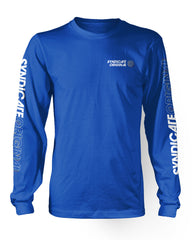 """Racer"" Blue Long Sleeve"
