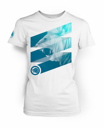 "Women's ""Roar"" White & Blue"
