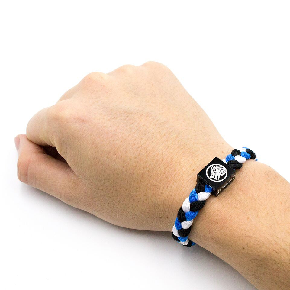 Bracelet / White, Blue & Black