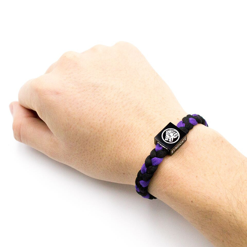 Bracelet / Purple & Black