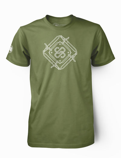 "Kids ""Swords"" Military Green"
