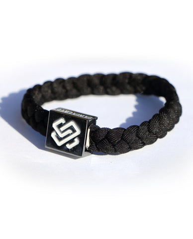 Bracelet 2-pack / Blue & Black / Gray & Black
