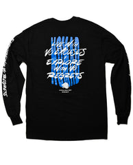"""Discovery"" Long Sleeve Black"