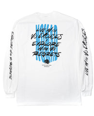 """Discovery"" Long Sleeve White"