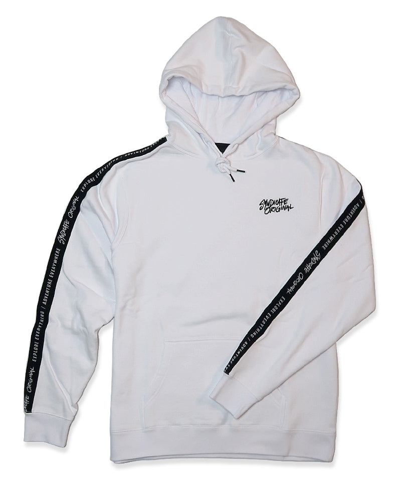 Limited Edition Stripe Hoodie White