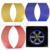 16 Pieces Strips Car Styling Motorcycle Automobiles Wheel Tire Sticker