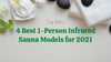 Top Picks: 4 Best 1-Person Infrared Sauna Models for 2021