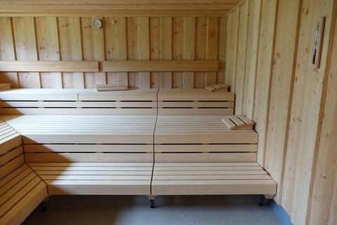 A infrared sauna installed for regular sauna therapy for athletes.