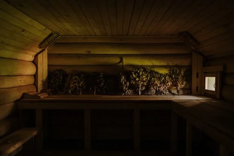 a wooden room
