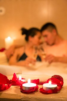 a spa night with roses