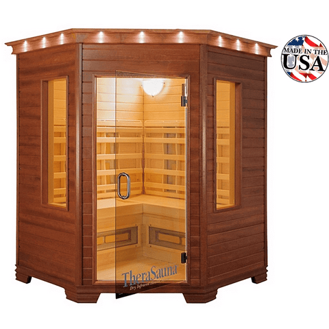 A 5-person sauna installed for a relaxing sauna therapy session inside the house.