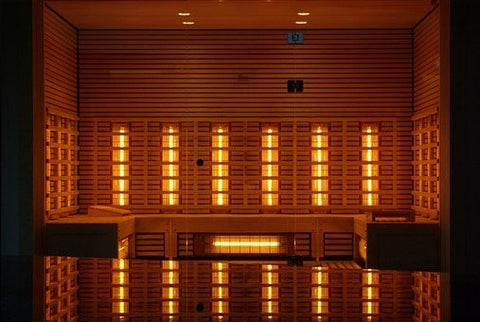 An infrared sauna for 5 persons