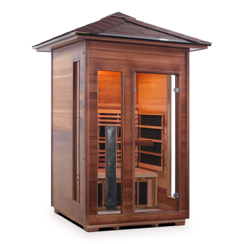 Enlighten RUSTIC - 2 Person Outdoor / Indoor Infrared Sauna