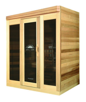 Saunacore Infracore Premium Series 3 Person Outdoor Infrared Sauna (PR 4X6)