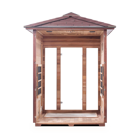 Enlighten RUSTIC - 3 Person Outdoor Infrared Sauna
