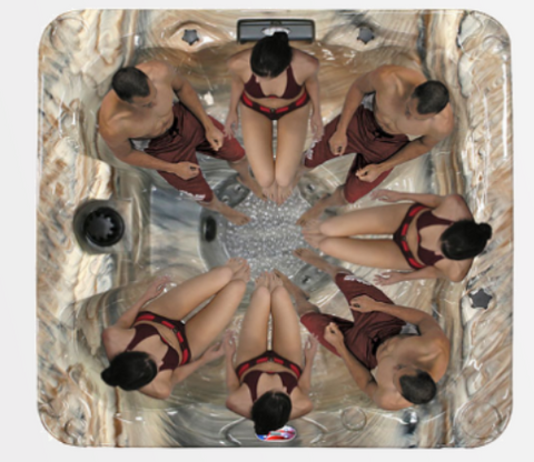 Image of American Spa AM-730 BM (6 Person Hot Tub)